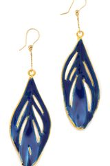 Aurelie Bidermann Organic Feather Earrings - Lyst