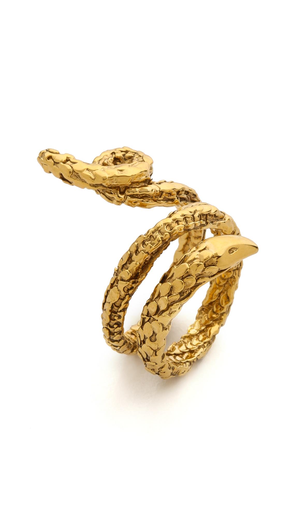 aurelie bidermann snake ring in gold lyst