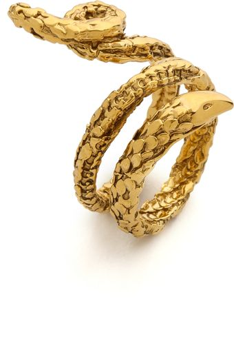 Aurelie Bidermann Gold Snake Ring - Lyst