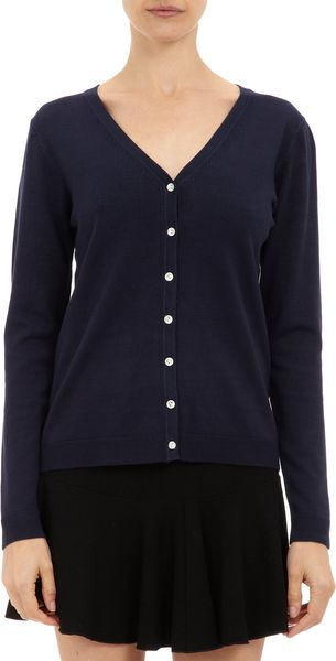 Barneys New York Vneck Cardigan - Lyst