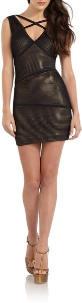 BCBGMAXAZRIA Sven Crisscrossed Strap Paneled Dress - Lyst