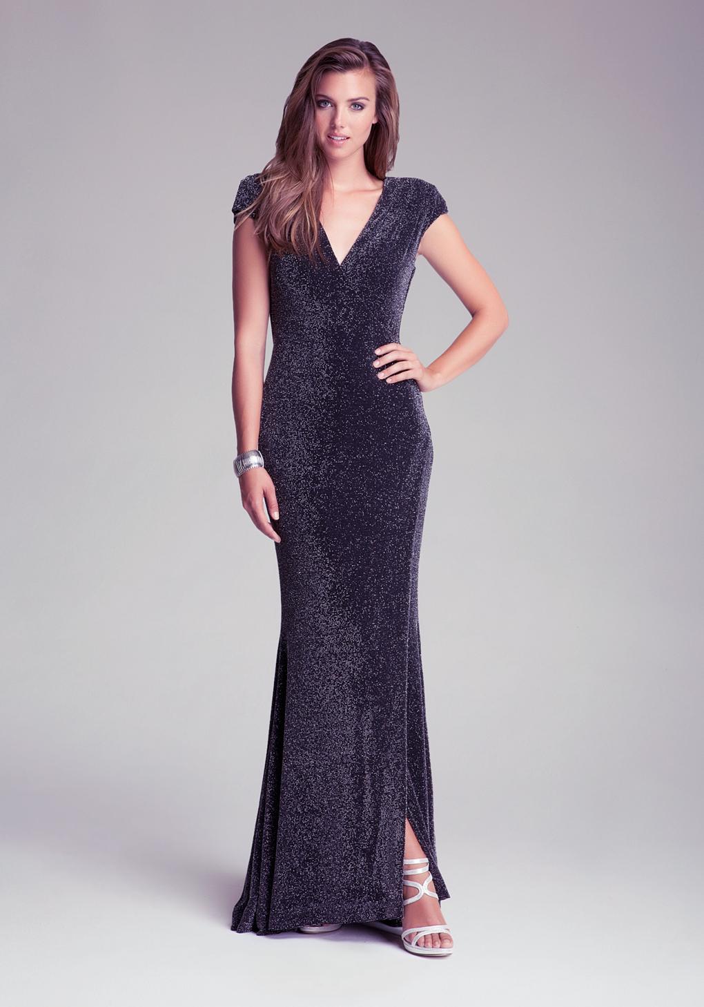 f401dedd1cdf Lyst - Bebe Petite Knit Back Cowl Dress in Black