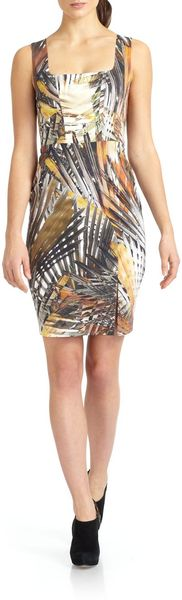 Black Halo Redford Abstract Leaf Dress - Lyst