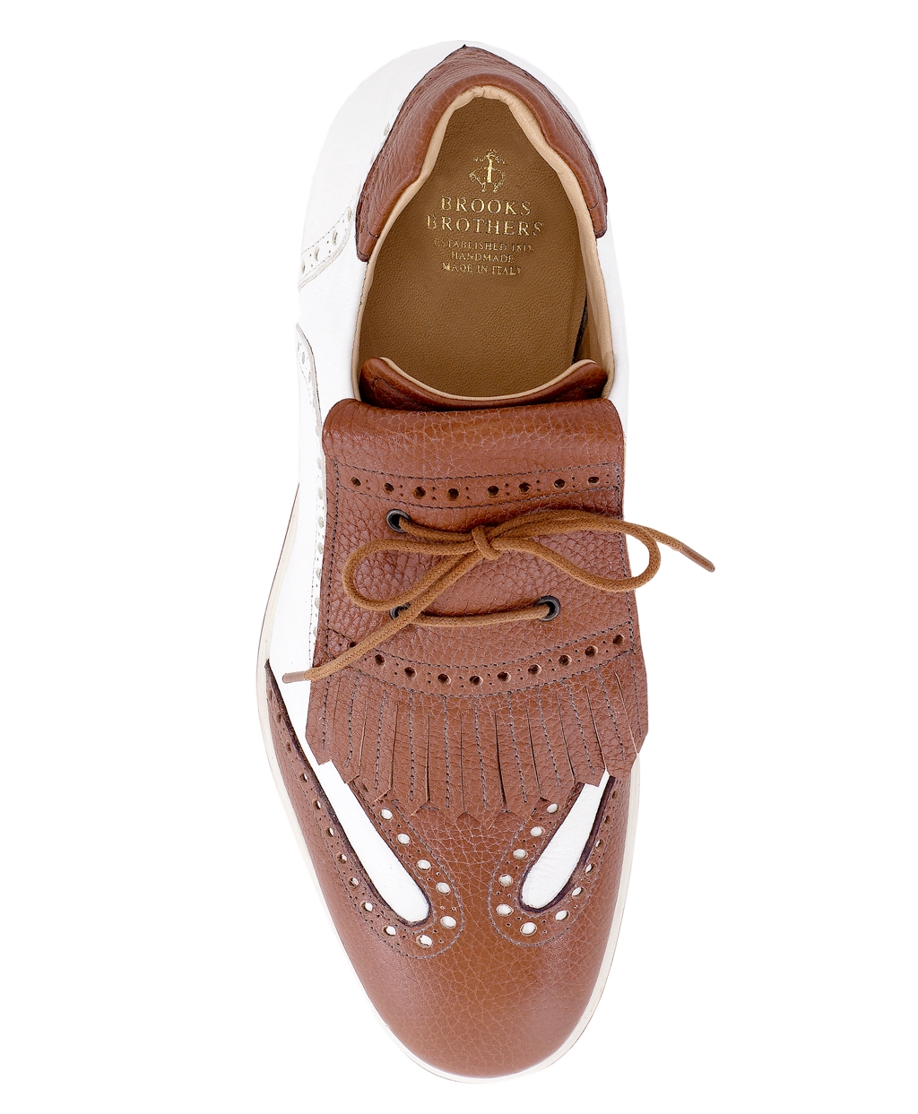 c89fcc5cd8d96 Lyst brooks brothers kiltie golf shoes in brown for men jpg 1024x1243 Brooks  golf shoes
