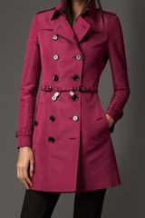 Burberry Mid-length Silk-blend Faille Trench Coat