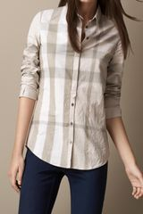 Burberry Throat Tab Check Shirt - Lyst