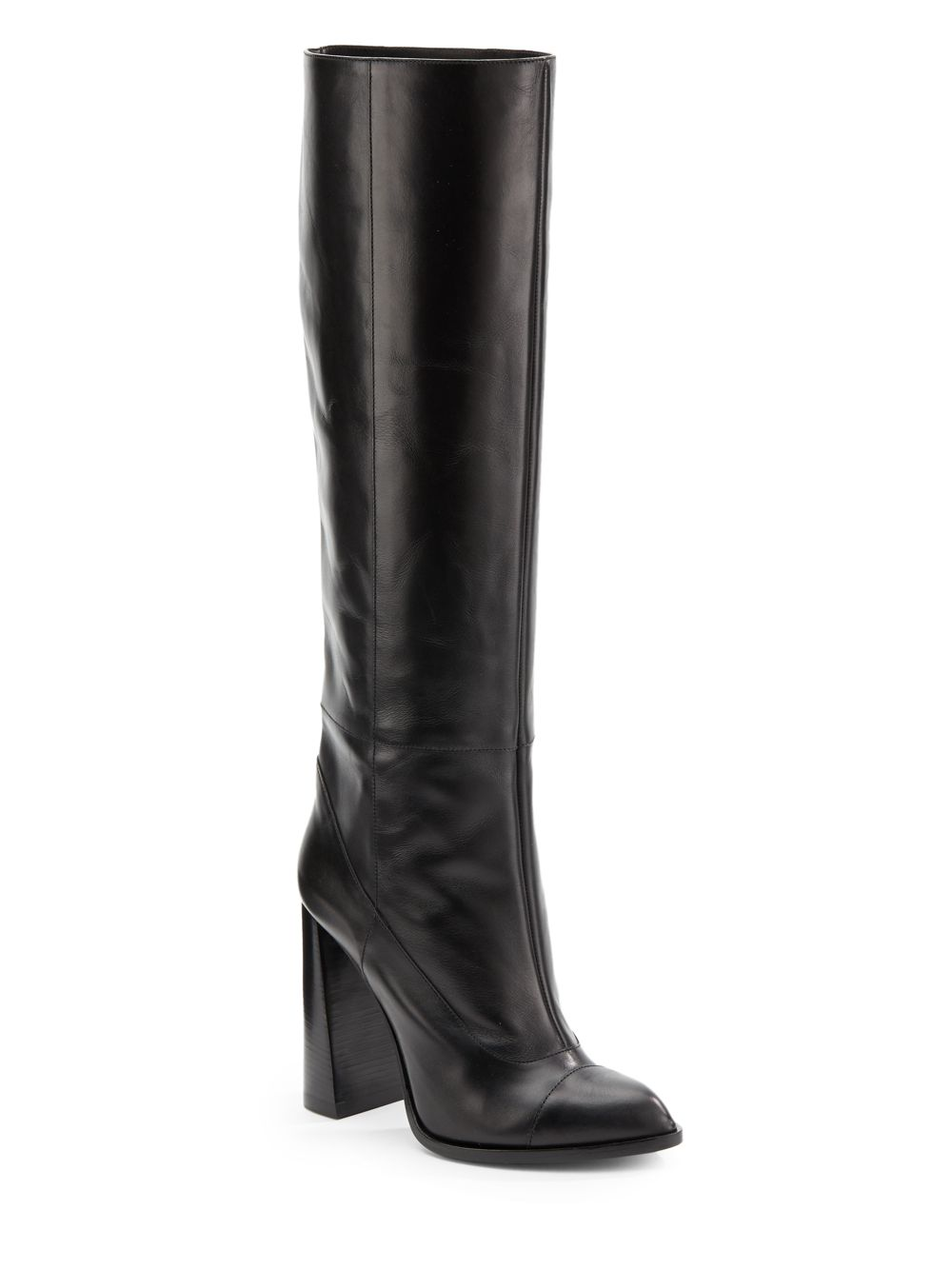 calvin klein heloise leather boots in black lyst