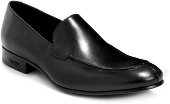 Calvin Klein Leather Loafers - Lyst