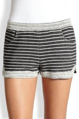 Cardigan Colette Striped Cotton Terry Shorts - Lyst