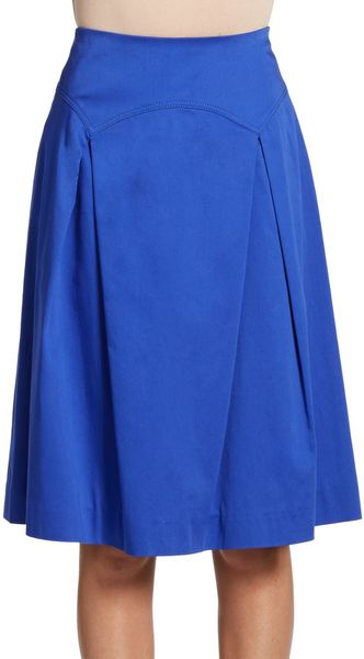 Carolina Herrera Scalloped Paneled Skirt - Lyst