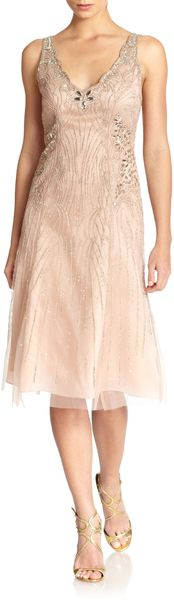 Carolina Herrera Embellished Silk Tulle Dress - Lyst