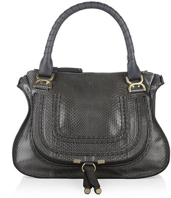 Chloé Medium Python Marcie Shoulder Bag - Lyst