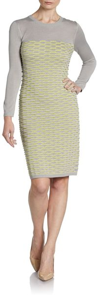 Cut25 By Yigal Azrouël Fish Scale Knit Dress - Lyst