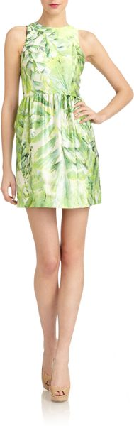 Cynthia Steffe Sydney Satin Abstract Print Dress - Lyst