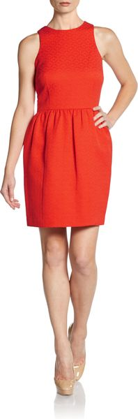 Cynthia Steffe Lola Tiled Flare Dress - Lyst