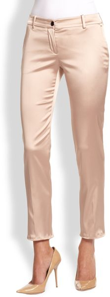 D&G Cropped Satin Trousers - Lyst