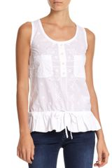 D&G Sleeveless Eyelet Top - Lyst