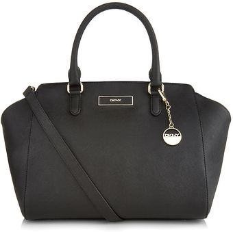 DKNY Large Saffiano Leather Satchel - Lyst