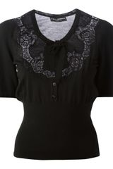 Dolce & Gabbana Lace Panel Top - Lyst