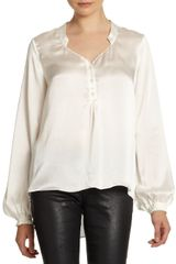 Elizabeth And James Mirta Silk Satin Blouse - Lyst