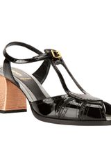 Fendi Brogue Detail Tbar Sandal - Lyst