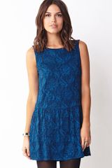 Forever 21 Poetic Lace Drop Waist Dress - Lyst
