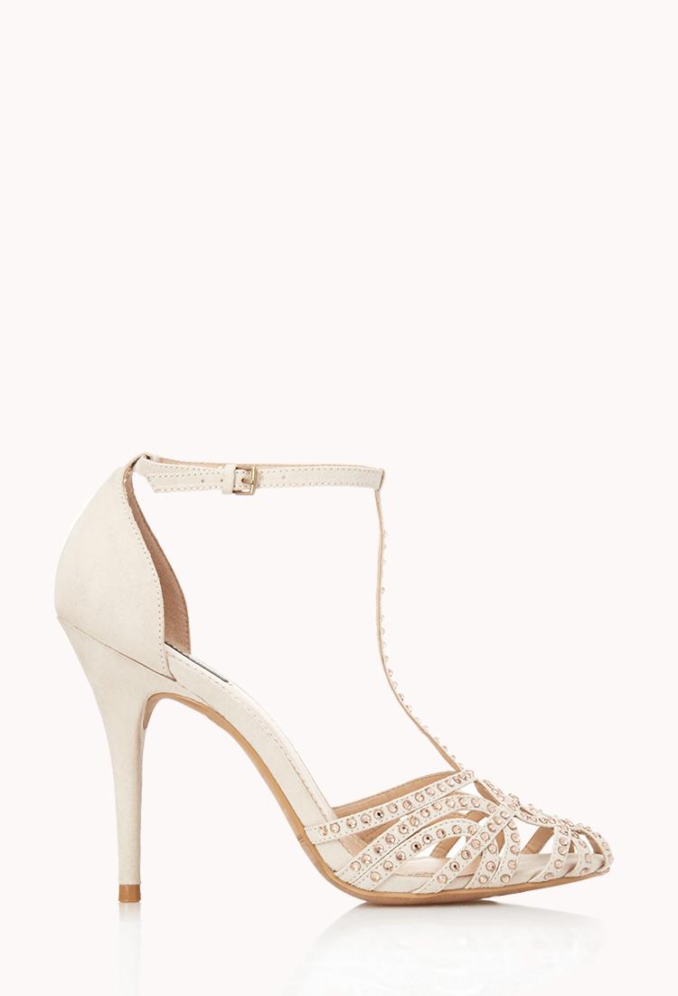 White Cream Heels