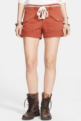 Free People Nautical Rope Belted Cuffed Shorts - Lyst