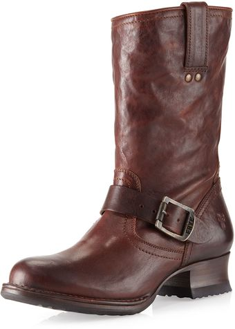 Frye Martina Short Boot Dark Brown - Lyst