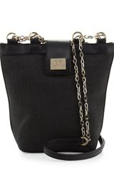 Gianfranco Ferré Woven Chain-Strap Shoulder Bag Black - Lyst