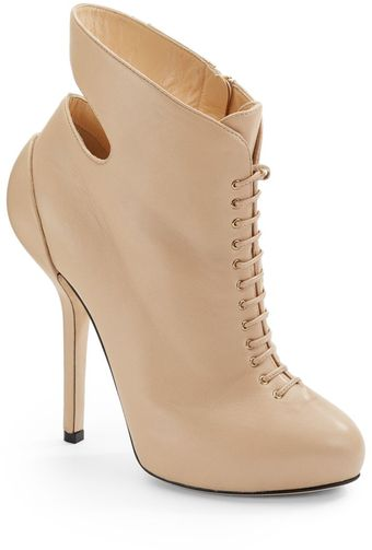 Giuseppe Zanotti Cut-Out Lace-Up Ankle Boots - Lyst
