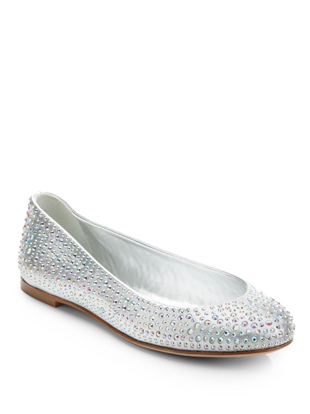 perfect cheap online free shipping affordable Giuseppe Zanotti Glitter Ballet Flats kKqeGeJXRG