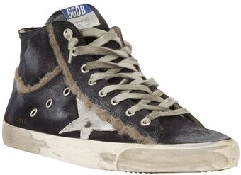 Golden Goose Deluxe Brand Francy Distressed Hitop - Lyst