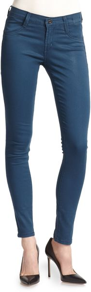 James Jeans Twiggy Coated Super Skinny Jeans Blue - Lyst