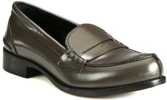 Jil Sander Leather Moccasin Loafers - Lyst