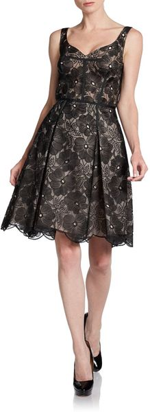 Jill Stuart Floral-embroidered Cocktail Dress - Lyst