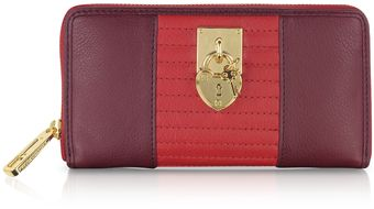 Juicy Couture Color Block Leather Zip Wallet - Lyst