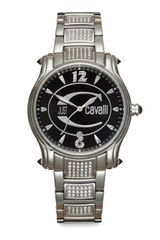 Just Cavalli Eclipse Stainless Steel Embellished Bracelet Watch - Lyst