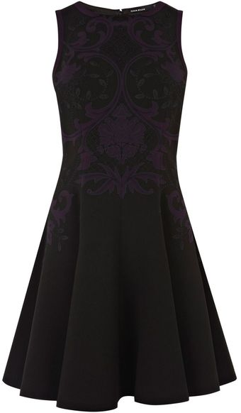 Karen Millen Baroque Placed Floral Dress - Lyst
