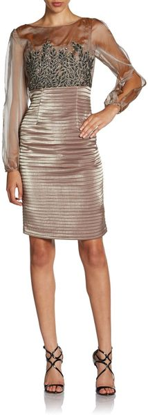 Kay Unger Jeweled Bodice Dress - Lyst