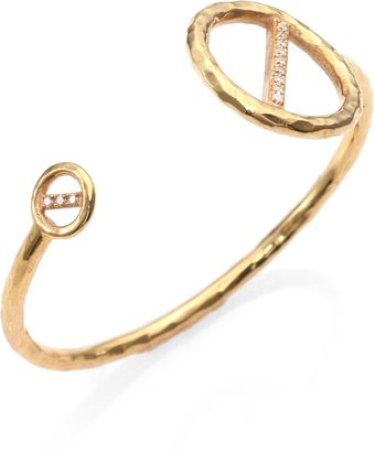 Kelly Wearstler Regent Hammered Pave Bangle Bracelet - Lyst