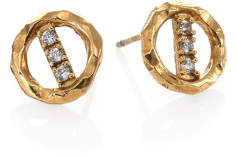 Kelly Wearstler Syon Pave Stud Earrings - Lyst