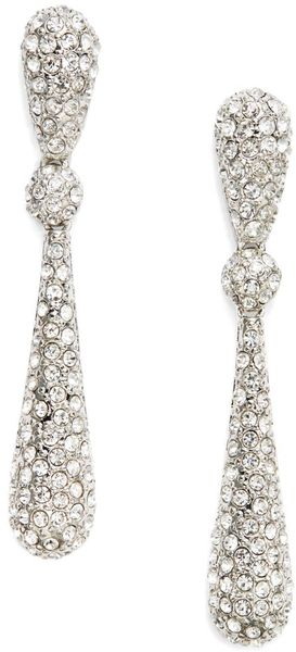 Kenneth Jay Lane Sparkle Teardrop Earrings - Lyst