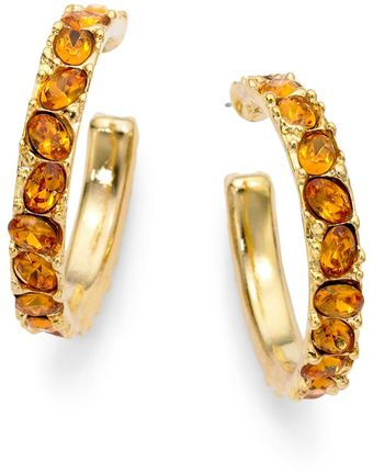 Kenneth Jay Lane Crystal Inset Hoop Earrings 15 Inches - Lyst