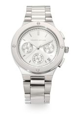 Kenneth Jay Lane Stainless Steel Chronograph Watch - Lyst