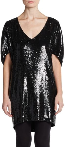 148 Best Images About Fingernail Art On Pinterest: Lafayette 148 New York Sequined Silk Top In Black