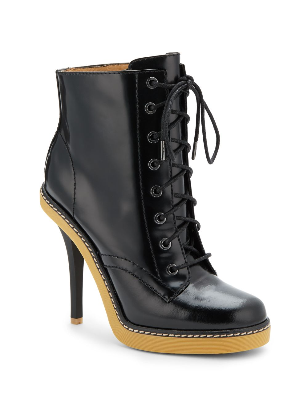 l a m b nichol patent leather ankle boots in black lyst