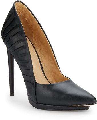 L.a.m.b. Nydia Woven Leather Point-Toe Pumps - Lyst