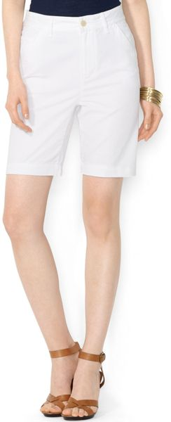 Lauren by Ralph Lauren Cotton Bermuda Shorts - Lyst