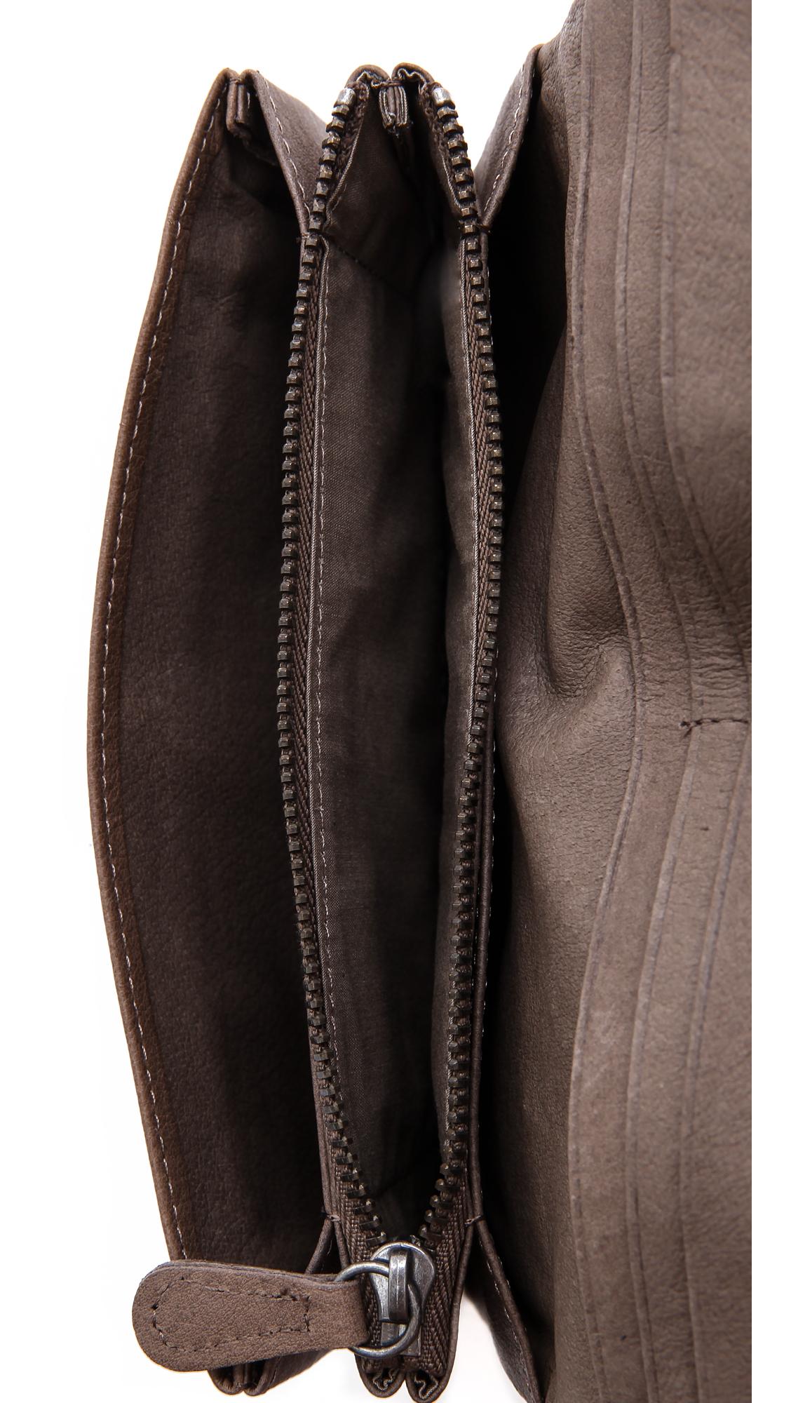 liebeskind slam clutch in brown lyst. Black Bedroom Furniture Sets. Home Design Ideas